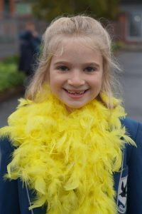 Danes Hill School pupils took part in Hello Yellow Day