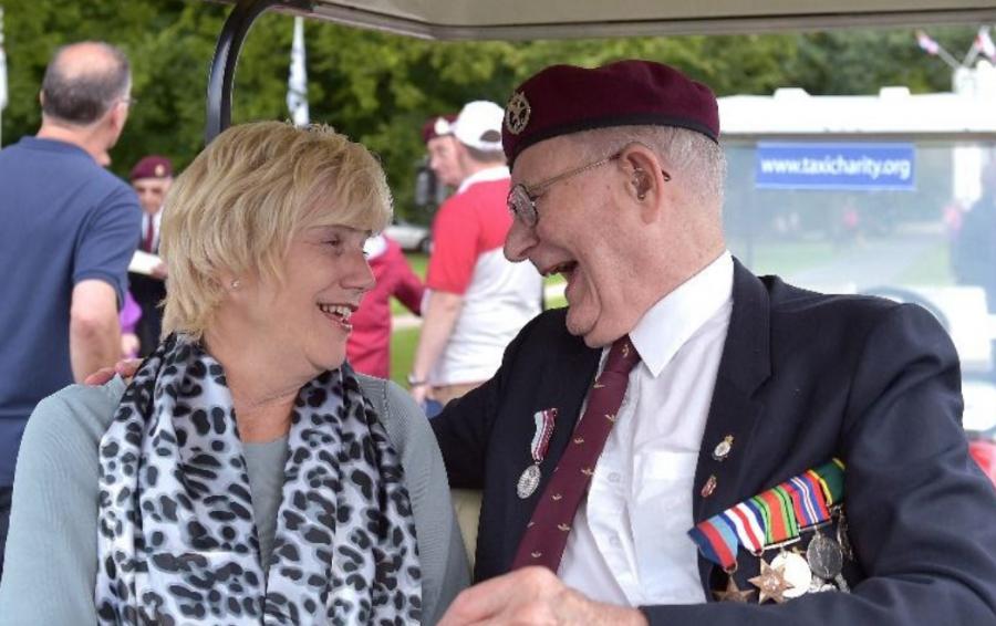 WWII veteran Ron Johnson celebrates his 100th birthday
