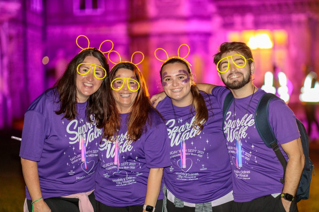 Hundreds bring sparkle to night-time charity walk